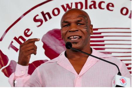 Mike Tyson at the 2011 International Boxing Hall of Fame induction weekend.