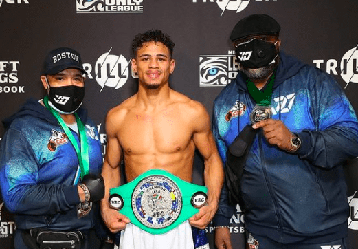 Jamaine Ortiz is all smiles after getting a win on the Mike Tyson-Roy Jones undercard.