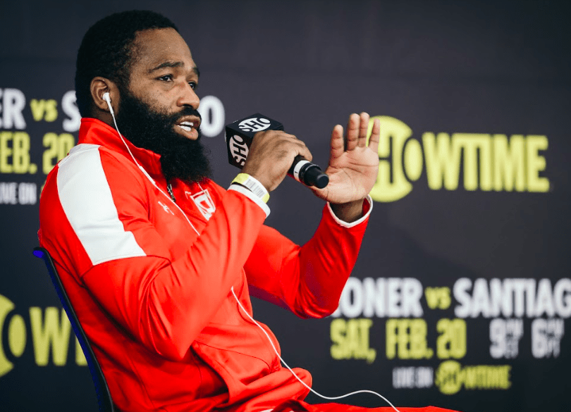 Adrien Broner at the Thursday press conference ahead of his Feb. 20 fight on Showtime.