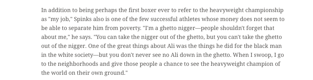 Sports Illustrated examined the high life and wild times of Leon Spinks.