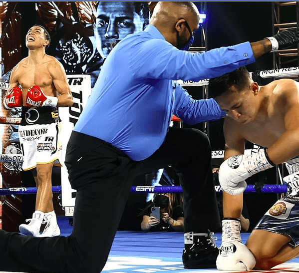 Omar Rosario is happy he topped Uriel Villaneuva on the Feb. 20, 2021 Top Rank show.