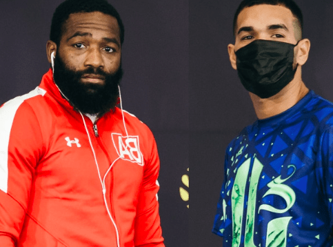 Adrien Broner doesn't look super confident at the press conference before his fight with Jovanie Santiago.