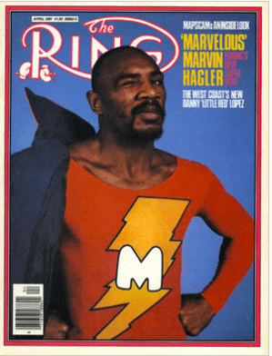Marvin Hagler on the cover of RING.