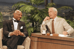 Marvin Hagler on the Tonight Show with Johnny Carson.