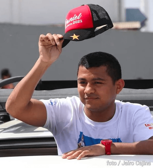 Chocolatito waves to fans in his native Nicaragua.