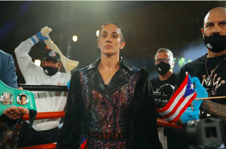 Amanda Serrano ready for her March 25, 2021 bout.