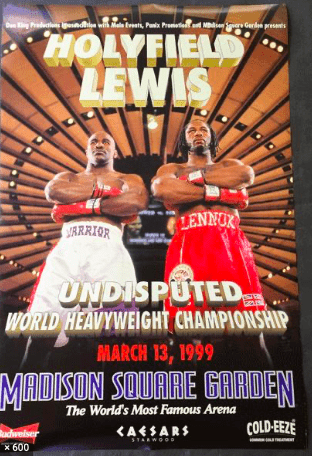 The Holyfield-Lewis fight in 1999 was a let-down.