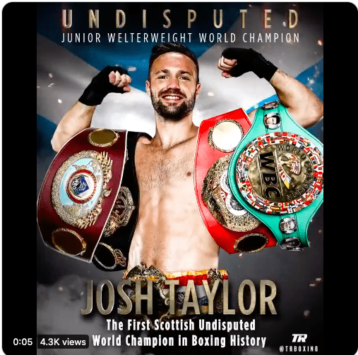 Josh Taylor is the undisputed junior welterweight king.
