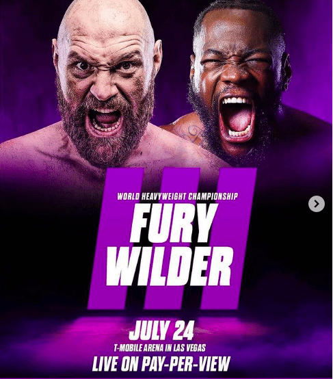 Tyson Fury meets Deontay Wilder for the third time on July 24, 2021.