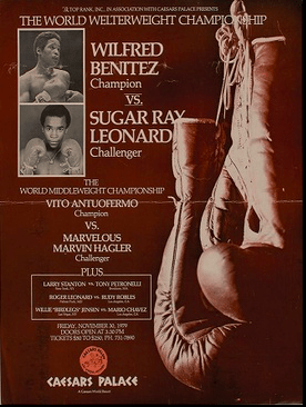 Wilfred Benitez met one of the four kings, and handled himself well against Ray Leonard.
