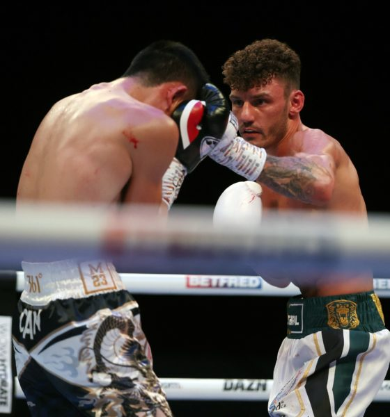 Leigh Wood scored an upset victory over Can Xu to become the WBA World Featherweight Champion. Photo: Matchroom Boxing UK Fight Camp