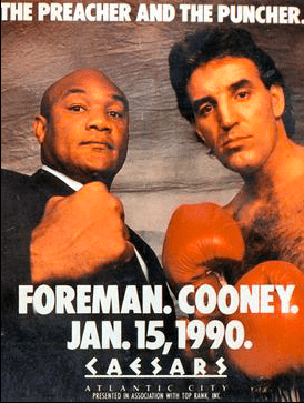 George Foreman fought Gerry Cooney on Jan. 15, 1990, and defeated the younger man.