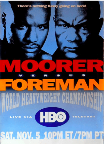 Most thought the younger man, Moorer, would have too much energy for George Foreman.