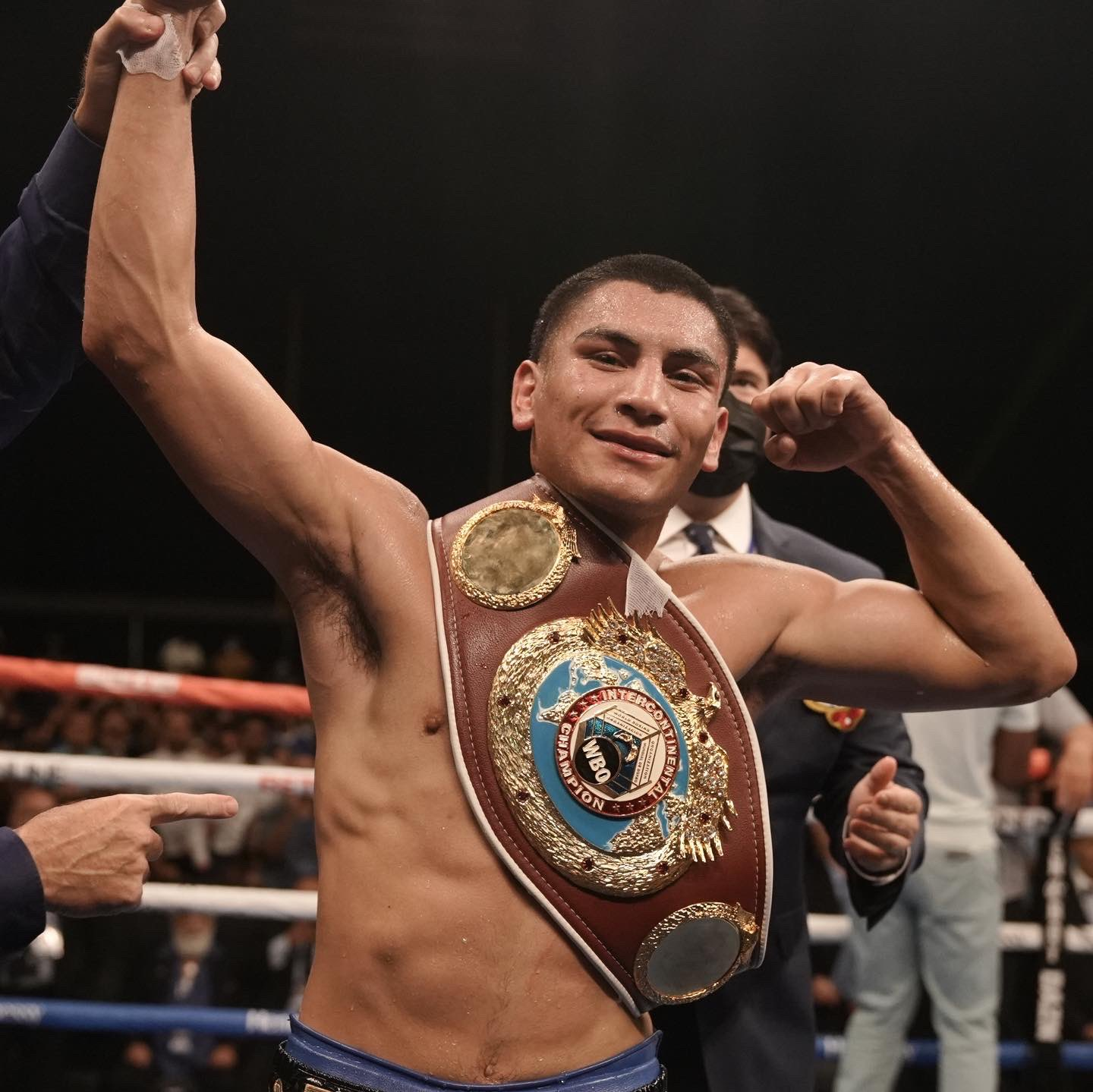Vergil Ortiz Jr. now waits for the rest of the welterweight champions to sort things out. Photo: Golden Boy Boxing