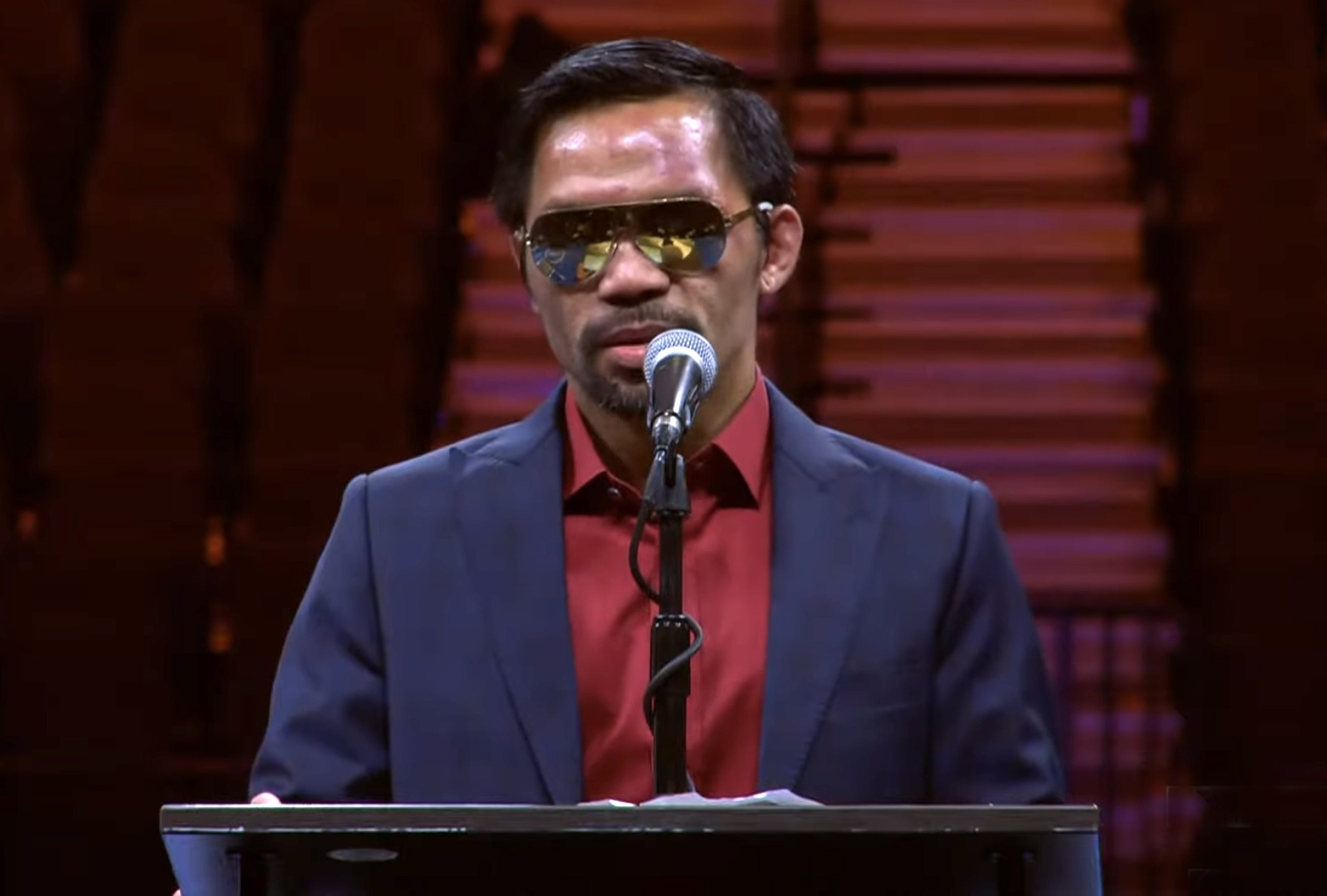 Manny Pacquiao's next big fight is likely in the political ring, not the boxing ring. Photo: Premier Boxing Champions/Screen Shot