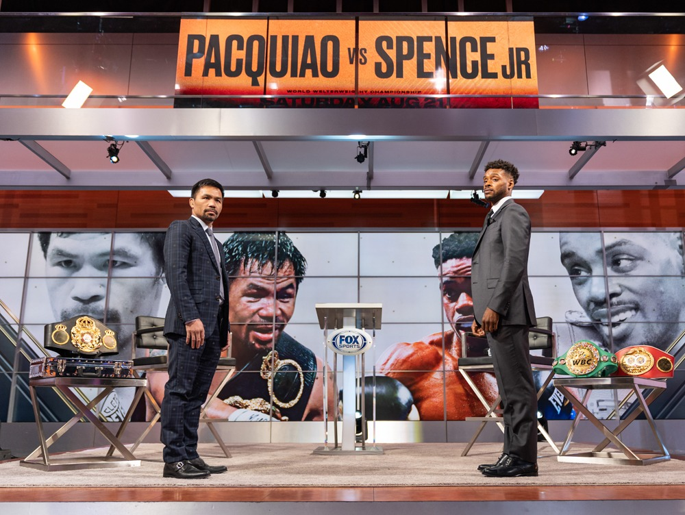 Remember how happy you were on July 8th when you heard the news about Pacquiao vs. Spence Jr.? It was too good to last. Photo: Ryan Hafey, Premier Boxing Champions
