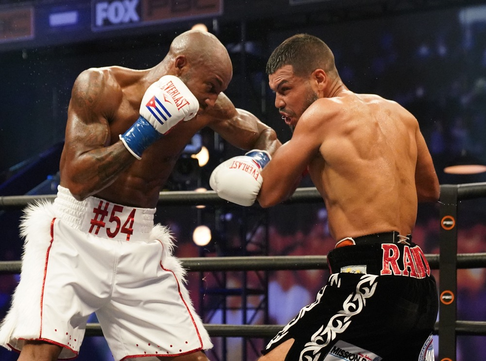 """Yordenis Ugas is stepping in for Errol Spence Jr. He fought Abel Ramos to """"win"""" the WBA World Welterweight title. Photo Sean Michael Ham, Premier Boxing Champions Answers About The Manny"""