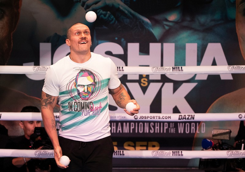 No one's having a better time than Oleksandr Usyk - win or lose. Photo: Matchroom Boxingheavyweight division