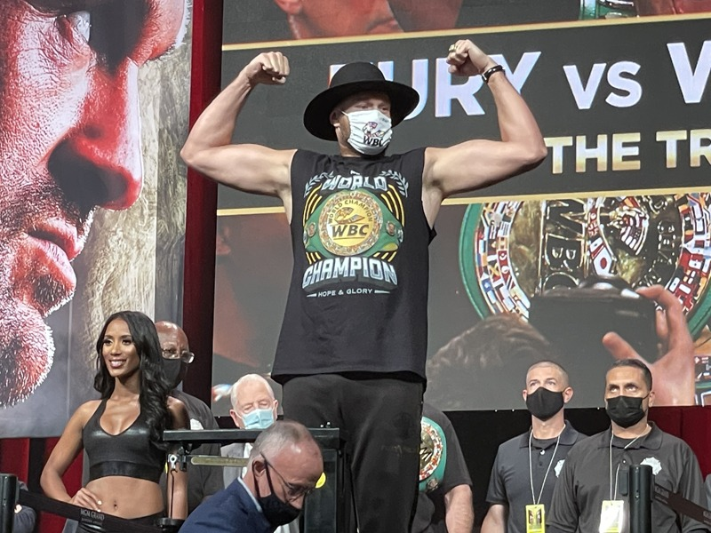 Tyson Fury hit the scale at a career high 277 pounds. Photo: Gayle Falkethal